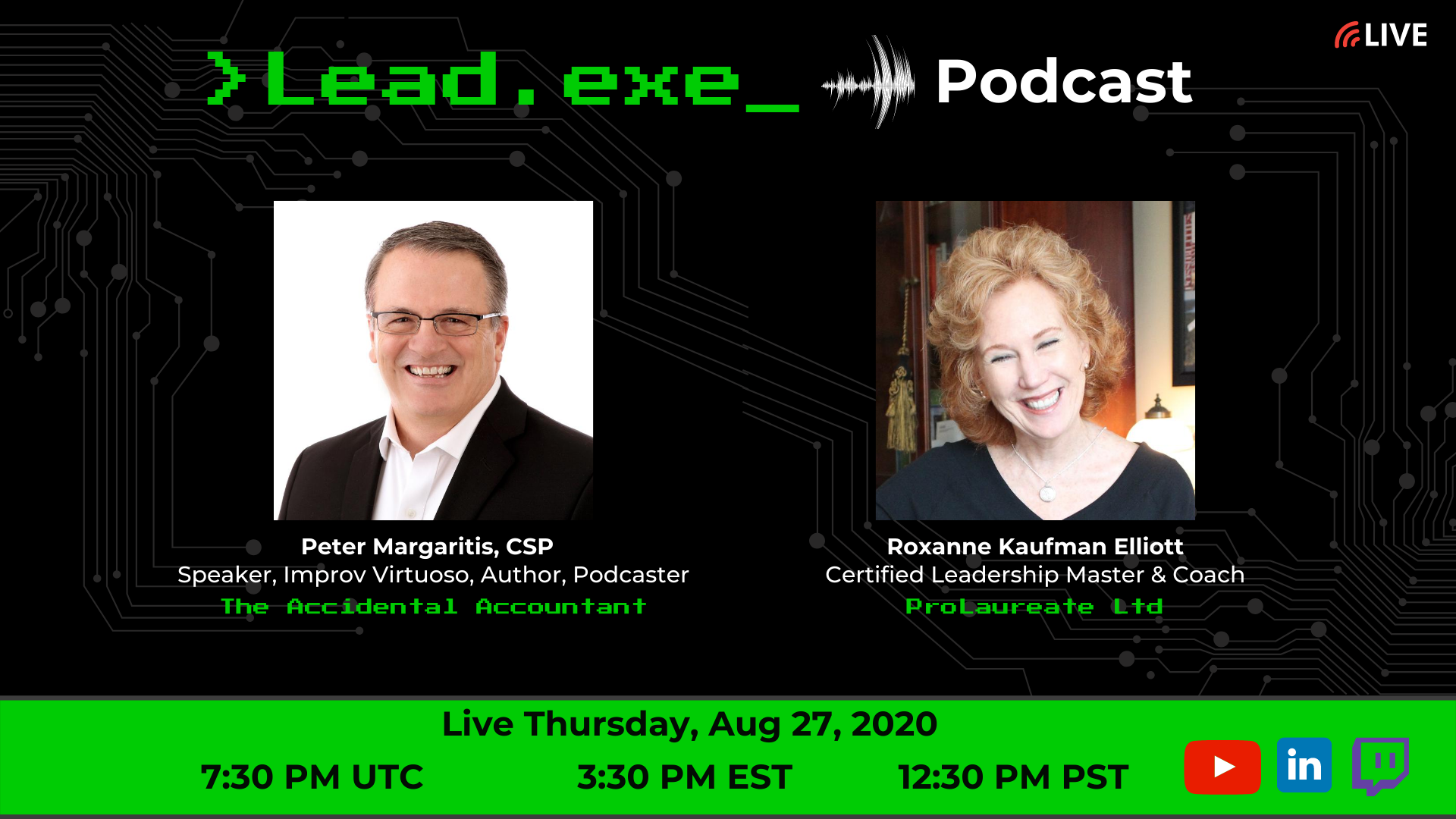 Episode:37 Livestream with Roxanne Kaufman Elliott and Peter Margaritis