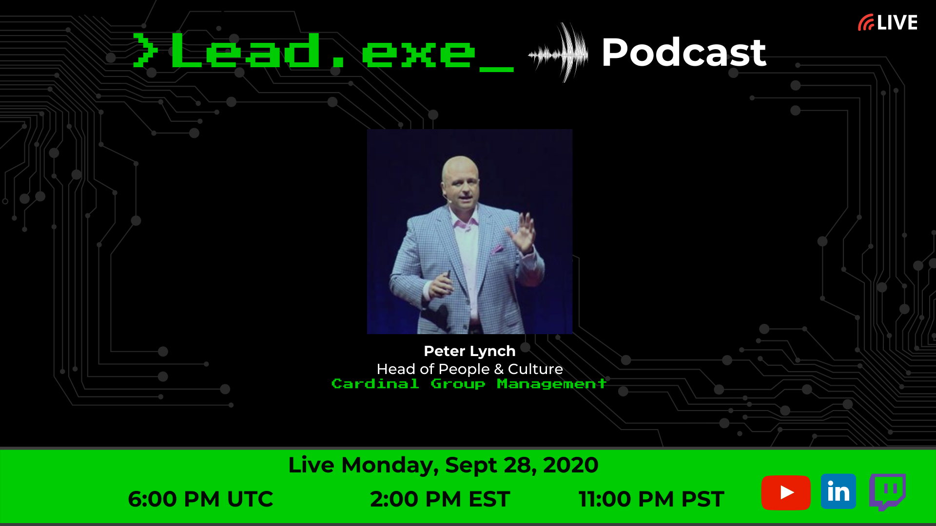 Episode 39: Livestream Human Centered Leadership with Peter Lynch